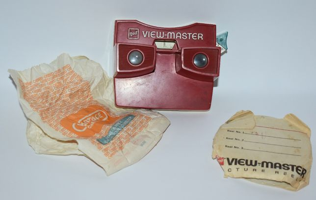 проектор gaf viewmaster picture reels made in usa 80-е годы сша винта
