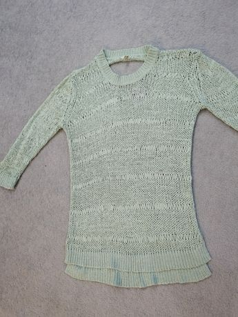 Ażurowy sweter dziury ml xl