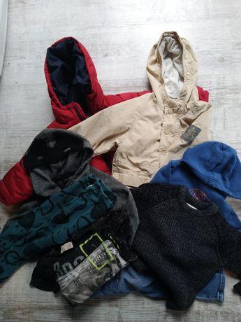 Zestaw paka 98 - 104 chłopięce Zara kurtka