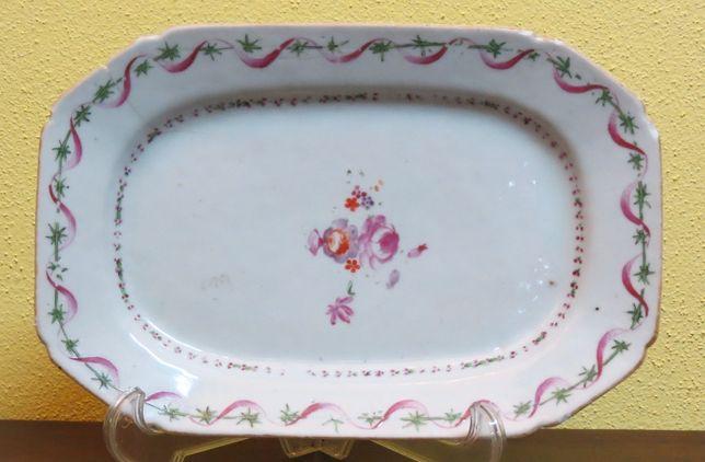 Travessa Porcelana Chinesa Companhia Indias nº21 Século XVIII 25.5cm
