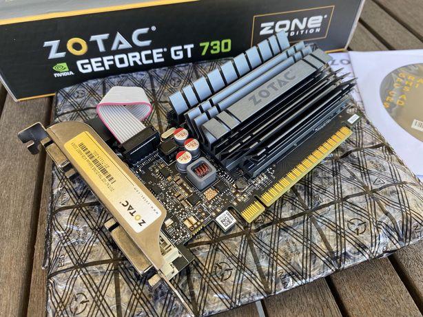 Gráfica ZOTAC GT 730 4GB com adapt para Low Profile