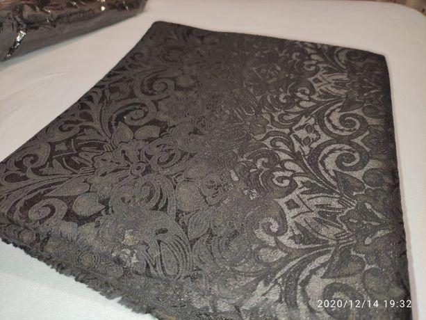 tkanina materiał żakard tkany czarny