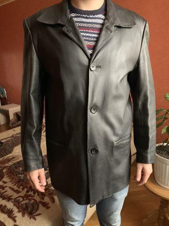 Кожаный мужской френч, размер XL!