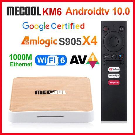 Mecool KM6 Deluxe 4/32 Гб Android TV 10 Smart TV Box ТВ приставка меди