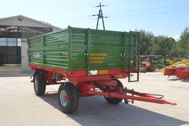 Nowa przyczepa rolnicza dwuosiowa typu MD601 6t Producent CE PROW
