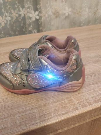 Кросівки, кроссовки з мигалками Stride Ride, 27 р, шкіряні