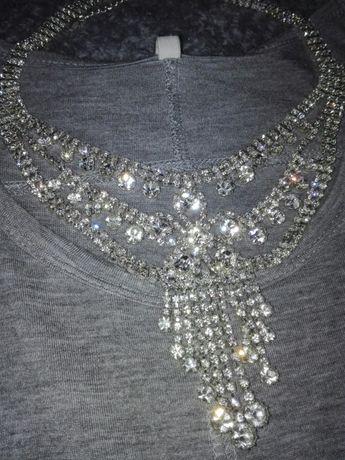 Choker swarovski biżuteria błyszcząca cyrkonie