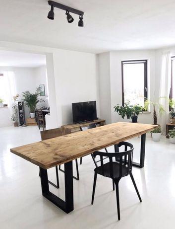 Stół ze starego drewna masywny retro vintage loft industrial design