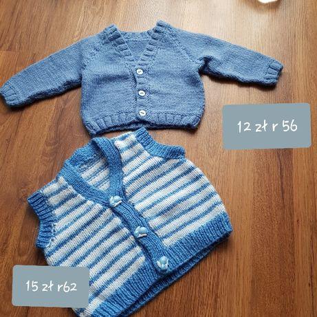 Sweterek ręcznie robiony i kamizelka r 56 i r 62