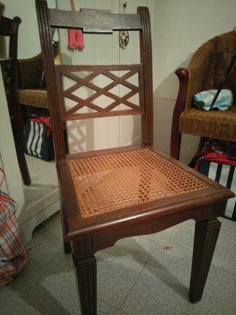 Cadeira com palhinha