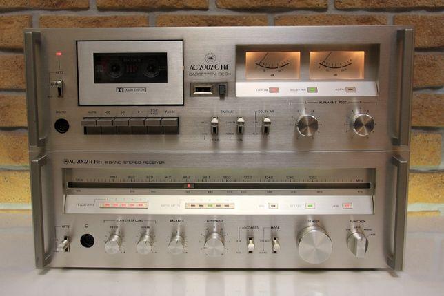 Amplituner + magnetofon kasetowy Audio Center 2002R i 2002C