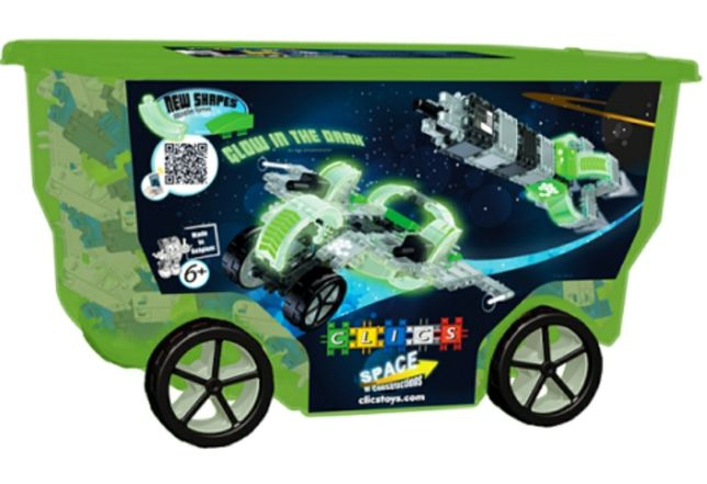 Конструктор детский clics rollerbox space 400 деталей
