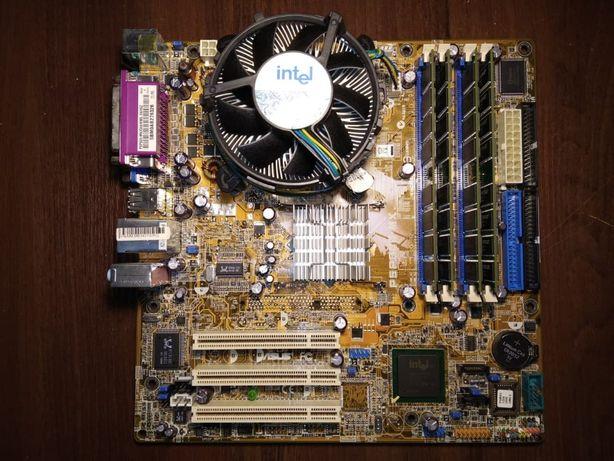 Asus P5P800-MX / Pentium 650 / 4 GB DDR / Материнская плата / Комплект