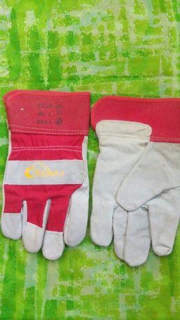 Перчатки рабочие строительные кожа+текстиль