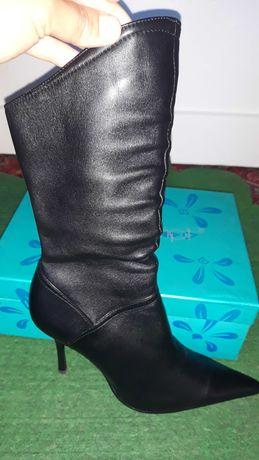 Демисизонные ботинки, натуральная кожа.