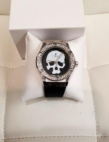 Zegarek wzór Hublot z czaszką nowy w pudełku