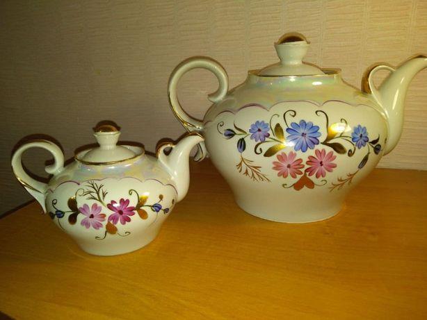 Фарфоровый чайник, заварник, посуда СССР.