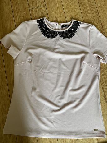 Bluzeczka , pudrowy róż marki MOHITO ,XL