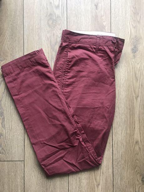 Bordowe spodnie Lee chinosy męskie