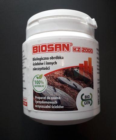 Biopreparat BIOSAN KZ 2000 szamba, zbiorniki z gnojówką bakterie 250g