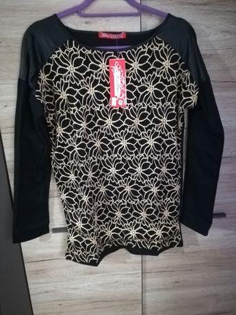 Bluzka Czarna Zdobiona z Tylu rozmiar XXL