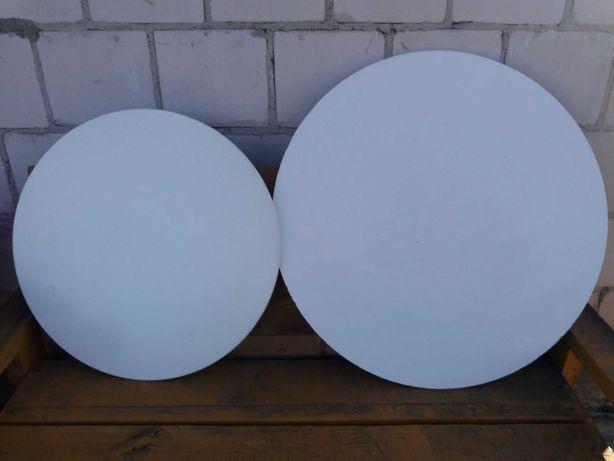 2 okrągłe blaty z połyskiem śred. 60 i 75 cm