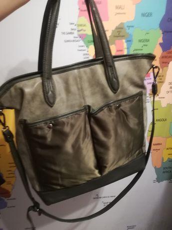 Nowa torba a 4 khaki oliwka pikowana dlugi pasek