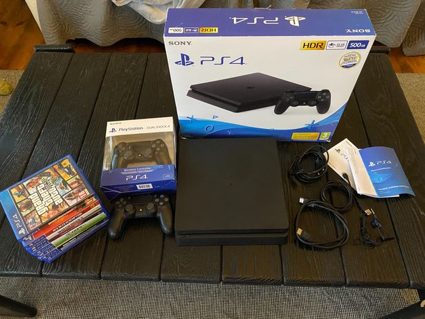 Playstation 4 slim 500gb stan igła, 2 pady, dużo gier!