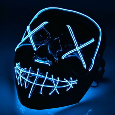 """Неоновая маска """"Судная ночь"""" светящаяся Led Purge Mask"""