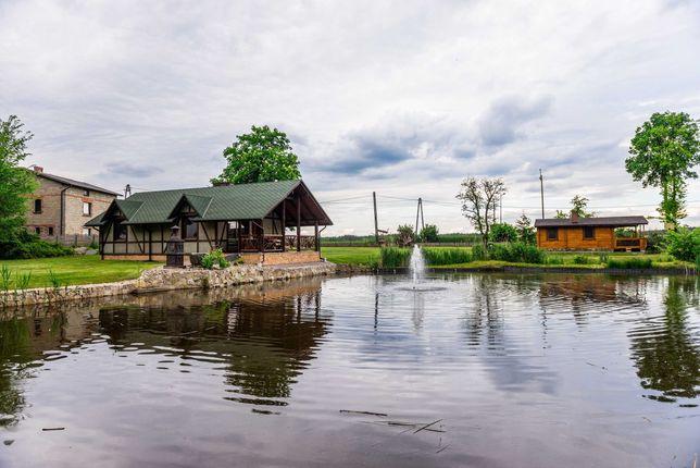 Agroturystyka Pawełki - domki domek nad stawami piękna okolica lasy