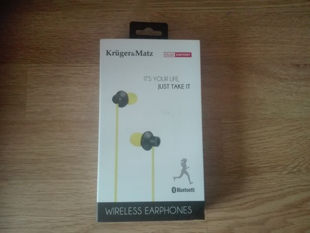 Słuchawki Kruger & Matz KMP89BT żółte