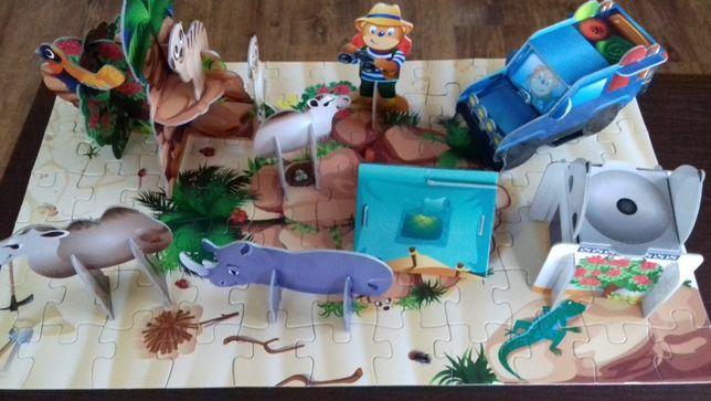 Puzzle 3D Przestrzenne Lubiś W piaskach pustyni