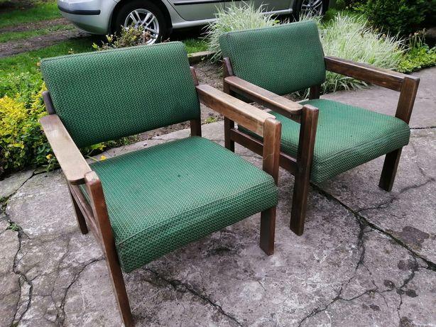 Fotele Gfm Klubowe PRL Art deco vintage