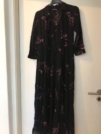 Zara vestido camiseiro comprido/tam S