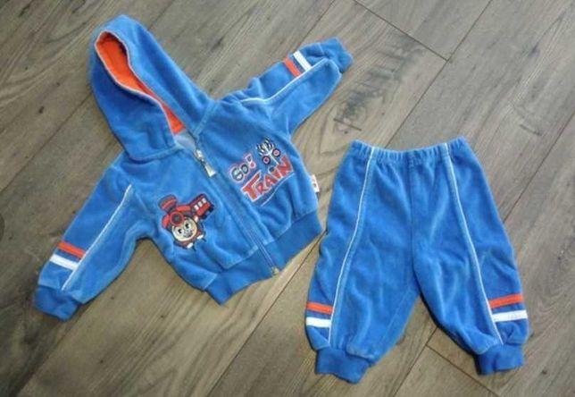 Bluza z kapturem i spodnie - misiowy dres, rozmiar 62