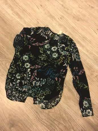 Koszula wzorzysta z motywem kwiatowym h&m