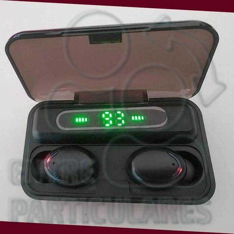 Fones TWS Bluetooth Estojo 2000mah PowerBank Auriculares P0030S