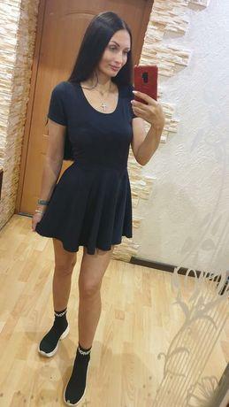 Платье мини на осень
