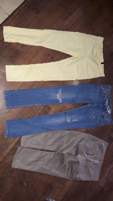 Spodnie damskie S firmowe 3 pary