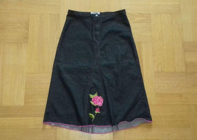 S-M/152-158 spódnica z różą pas 64-66 cm spódniczka