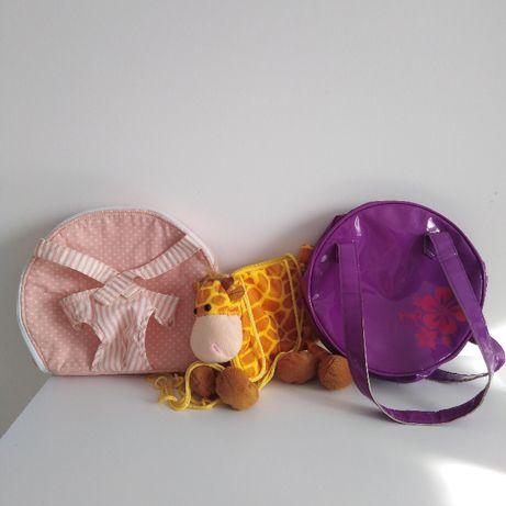 Torebki 2 szt, plecak nosidełko/przewijak dla lalek