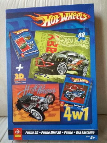 Puzzle 3D +karty Hot Wheels