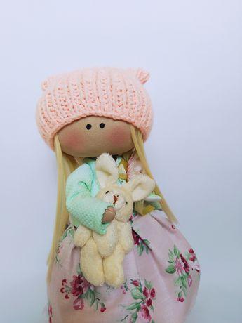 Кукла текстильная Персик