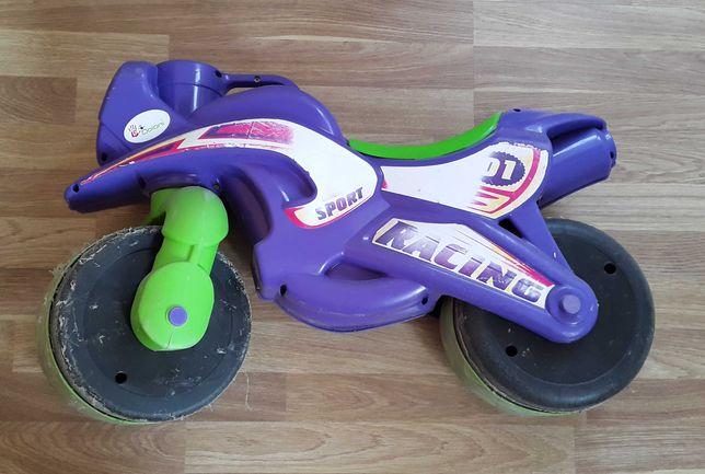 Детский мотоцикл-толокар на запчасти