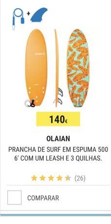Prancha surf 6.0 softboard nova