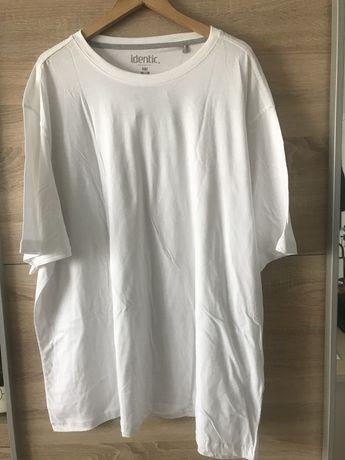 Nowa męska biała koszulka T-shirt rozmiar 6XL 76/78