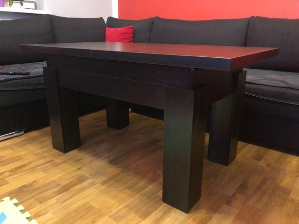 Ławostół, ława stolik kawowy podnoszony i rozkładany na stół