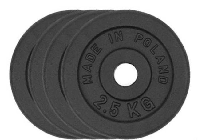 Obciążenie żeliwne zestaw 10kg 4 talerze po 2,5kg 28mm