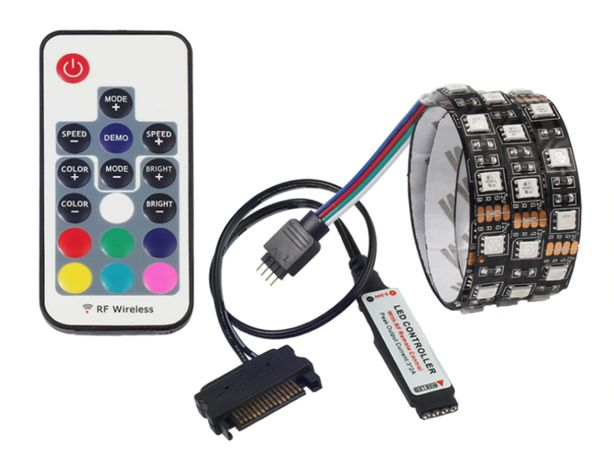 Fita LED PC ATX RGB 3-Pin / 4-Pin / USB / SATA 50Cm
