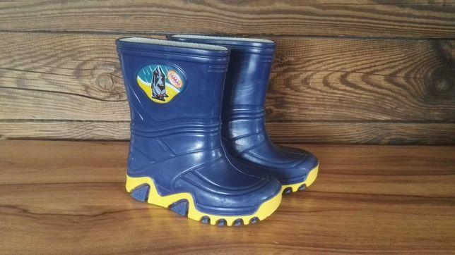 Kalosze gumiaki 24/25 gumowce buty na deszcz chłopięce